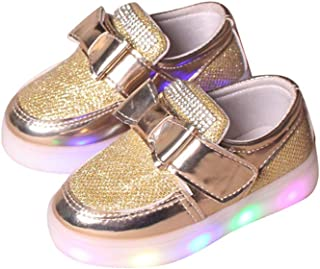BY0NE Baby Shoes,Kids Baby Boys Girls Toddler Sport Running LED Luminous Shoes Sneakers