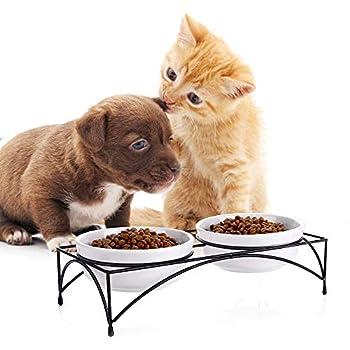 Y YHY Gamelle Pour Chat,gamelle chat surélevée, bols surélevés pour la nourriture et l'eau, gamelles en céramique pour animaux domestiques