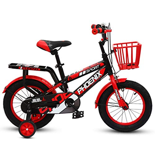 Kids' Road Bicycles Kids' Balance Bikes Children Aged 3-9 Bicycles for Boys and Girls Children's Pedal Balancer Outdoor Mountain Bike The Best Gift for Children (Color : Red, Size : 18in)