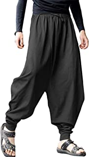 Men's Casual Elastic Waist Baggy Hippie Yoga Harem Pants