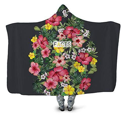 Manta con capucha, hombres y mujeres pueden personalizar la capa, ultra grande desgaste North Velvet cálido ultrasuave