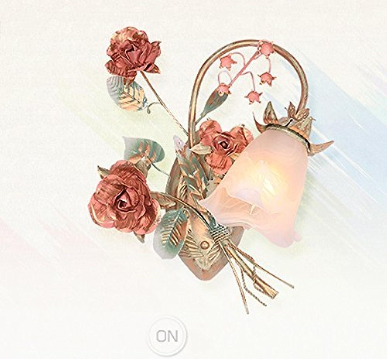muchas sorpresas Lámpara de parojo pastoral para para para cama de flores por habitación Lámparas de paso de la lámpara de parojo de la cabeza única (Estilo  A)  ventas en linea