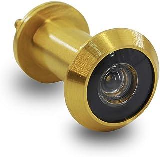 comprar comparacion Mirilla para Puertas Acero Inoxidable de Espesor 35-55mm, con HD vision de 200 Grados Seguridad para Hogar(Dorado)