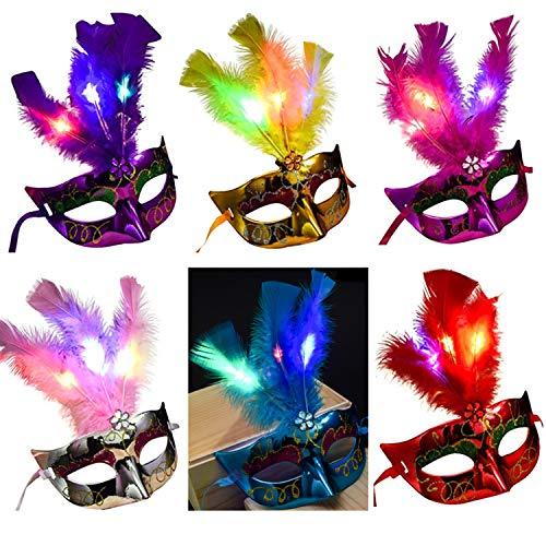 Aulinx 6 piezas Máscara de carnaval veneciano Máscara de
