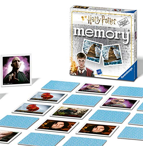 Ravensburger Harry Potter - Mini Memory Game for Kids Age 3 years and Up - A Classic Picture Snap Matching Pairs Game