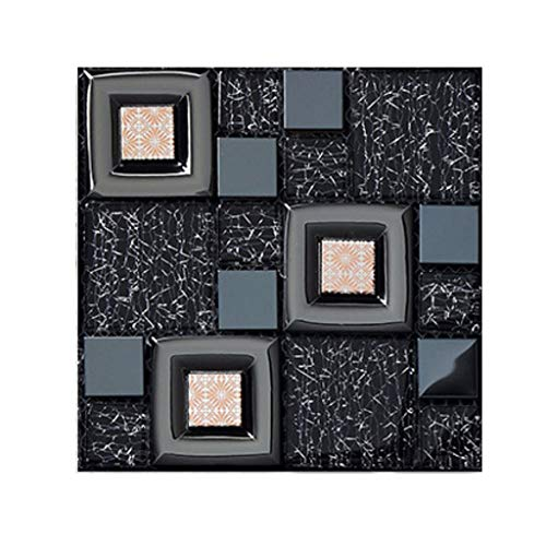 jieGorge Wandfliesen-Aufkleber, DIY, 3D-Mosaik, selbstklebende Wandfliesen-Aufkleber, Vinyl, Heimdekoration modisch D