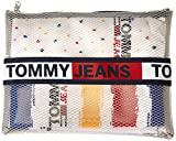 Tommy Hilfiger Tommy Jeans Paint Socks Giftbox (3 Pack) Calcetines, Blanco, 35-38 Unisex Adulto
