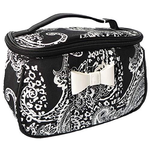 Vito & Joe Damen Kosmetiktasche Mini Beautycase Schwarz Weiß ca. 21/13/10cm