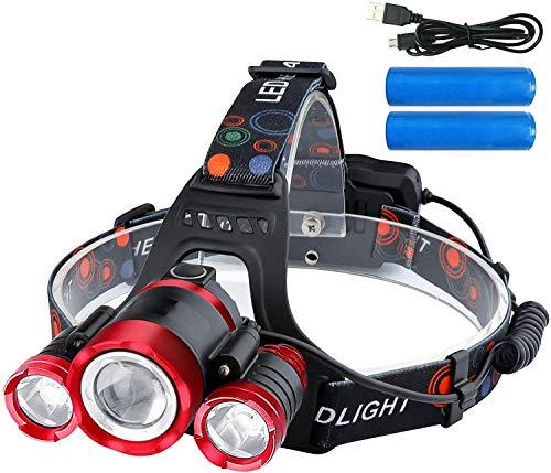 ZHENWEI LEDヘッドライト 12000ルーメン USB充電式 (PSE認証 18650リチウムイオン蓄電池 2本付属)