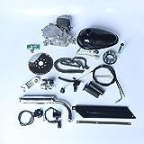PaNt Kit de Motor de Bicicleta 80cc,Kit de Motor Gasolina Bicicleta Aluminio 2 Tiempos que Ahorra Energía Completamente Empaquetado con Un Tanque Combustible de 2.5 Litros Para Bicicletas De 26'28'