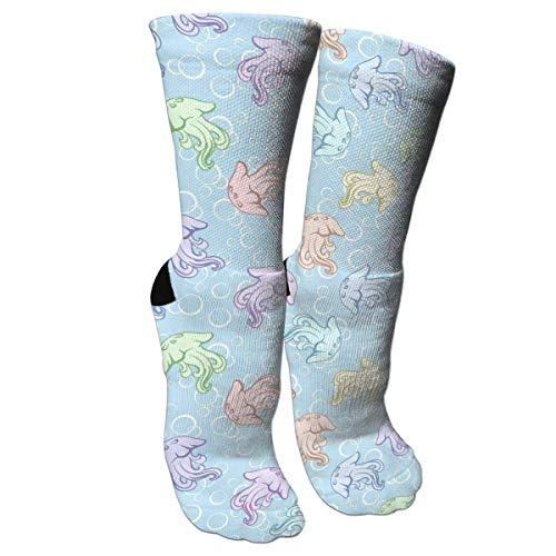 HJKAA Calcetines Hombres Mujer Colorful Octopus - Blue Bubble Background Compression Socks for Women and Men - Best Medical,for Running,Athletic,Varicose Veins,Travel
