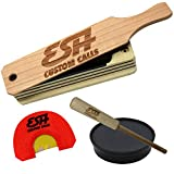 ESH Turkey Call Starter Pack - All-Weather Turkey Box Call, Mouth Call, and Slate Pot Call with Hickory Striker Kit - Hunting Accessories for Beginner and Pro Hunters