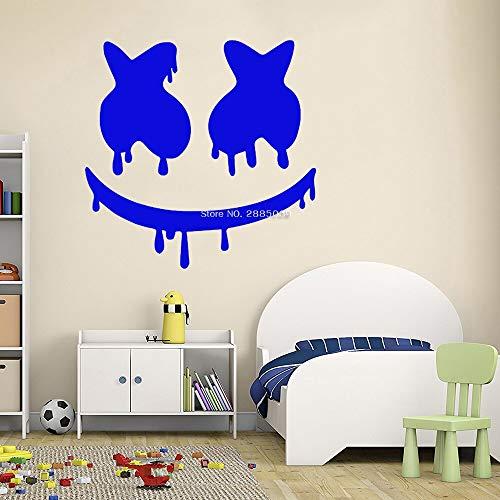 QQCYWZK Tropfspaß Maskenmuster Vinyl Wandtattoo Wohnzimmer Hauptdekoration Wandaufkleber Kunst Wandbild Schlafzimmer Poster 42x43cm