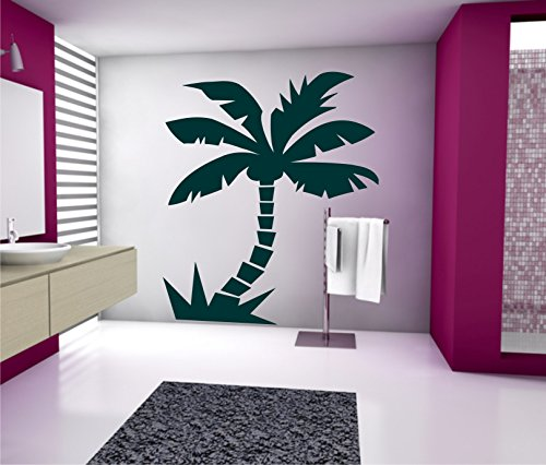 Sticker mural Palmier autocollant sticker mural 60 x 70 cm 33 couleurs mat ou brillant - Gris clair mat