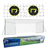 Open Goaaal USA - Soccer Goal Bundle Includes Large Soccer Goal/Soccer Backstop/Soccer Rebounder All in One and Practice Targets (2 Pack) for Volley, Passing, and Solo Training