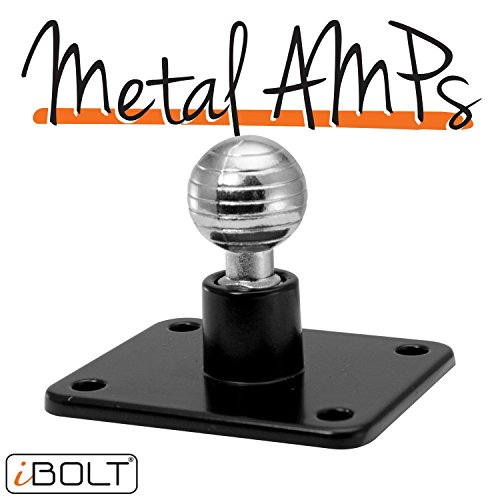 iBolt Aluminum 17mm AMPs Adapter Plate - for Garmin GPS Devices, iBOLT smartphone holders and other industry standard 17mm adapters