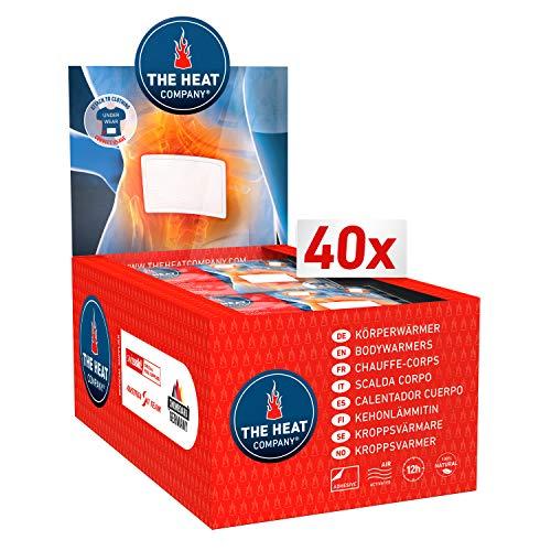 THE HEAT COMPANY Bodywärmer - 40 Stück - Wärmepflaster Rücken - EXTRA WARM - klebend - Körperwärmer - Rückenwärmer - 12 Stunden wohlige Wärme - luftaktiviert - rein natürlich