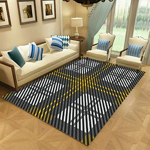 WDSZY Rectangle Polyester Carpet, Geometric Colorful Printed Non-Slip Area Rugs, Soft Kids Crawling Floor Mat Home Decor 160X230Cm