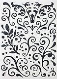 Sticker pailleté adhésif - Arabesque - Noir - Graines créatives