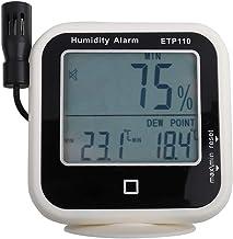 Termo higrómetro digital Medidor de punto de rocío de humedad Pantalla LCD Monitor externo Registrador de datos de temperatura Sensor de monitor para laboratorio doméstico