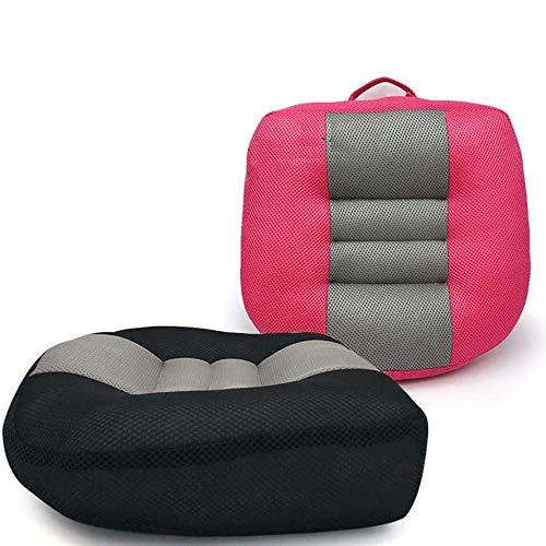 2pcs Adulti Booster Sedile Car Seat Cushion- (Aumentare Campo Visivo 12cm) di Cotone Traspirante Fill Driver Ammortizzatore di Sede di Sollevamento Sedile Cushion A