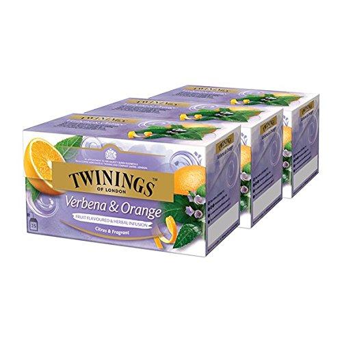 Twinings Verbena & Orange, 25 bolsitas de té, paquete de 3