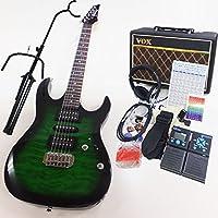 アイバニーズ Gio Ibanez GRX70QA TEB エレキギター VOXアンプ ZOOM G1on付初心者入門18点セット