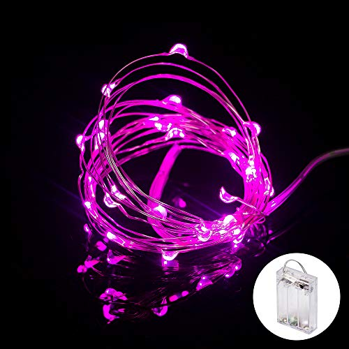 XINKAITE String Lights, Waterproof LED String Lights, Fairy String Lights Starry String Lights for Indoor& Outdoor DIY Decoration Home Parties Christmas Holiday (10FT/3Meters, Pink)