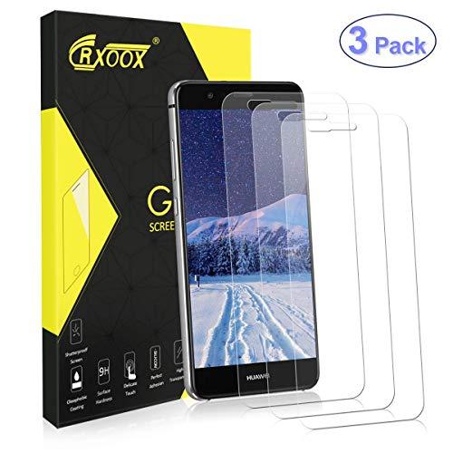 CRXOOX 3 Pezzi Vetro Temperato per Huawei P10 Lite Pellicola Protettiva Senza Bolle d'Aria Durezza 9H e Schermo in Vetro Ultra Trasparente
