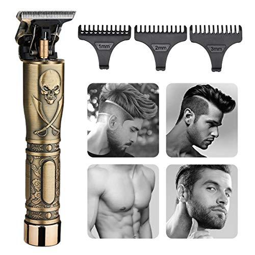 Elektrischer Bartschneider für Männer, GLAMADOR Blonder Barttrimmer & Haarschneider, Barthaarschneider-Rasierer, Präzisionstrimmer, Tragbarer USB-Lade-Rasierapparat, Geschenk Blond