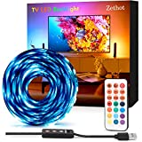 Tira LED TV 3.5 M, Bias Lighting para TV de 50-65 pulgadas, RGB de 11.5 pies, kit con mando a distancia, Bias Lighting de 5050 LED para HDTV