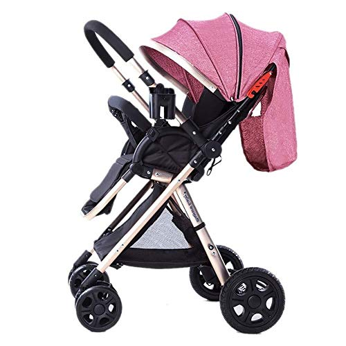 Sale!! TZZ Baby Stroller with 5 Point Safety System Lightweight Folding High Landscape Pushchair Bug...