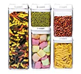 VIVILINEN Juegos de Recipientes de Plástico Transparente para Almacenamiento de Alimentos...