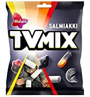 Malaco TV Mix テレビ ミックス サルミアッキ 1袋×280g 北欧のお菓子です [並行輸入品]