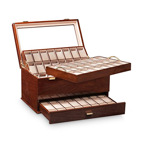 Ferocase Uhrenbox FC72MHG Limited Edition für 72 Uhren - Mahagonidekor