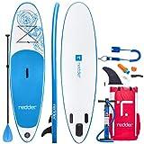 redder Tablas Paddle Surf Hinchables Vortex 10' All Round Tabla Stand Up Paddle - Kit con Bravo SUP3 Inflador, Aluminio Pala Ajustable 3 Piezas, Mochila de Viaje, Kit de Reparación