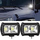 6 ' Offroad Flood lumière , 96W reflector faro de trabajo ligero faros de trabajo luz antiniebla de foco LED luz de circulación diurna para SUV ATV camión barco tractor