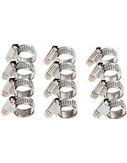 Rovtop 12 stuks slangklemmen set spanbereik 10 - 16 mm bandbreedte 9 mm