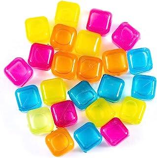CBU 24 Pack Reusable Ice Cube, Plastic Ice Cube, BPA Free, Refreezable,Washable