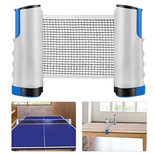 XDDIAS Tischtennisnetze Tischtennis Netze, Justierbarer Einziehbares Netz Ping Pong Ersatznetz, Beweglicher Reisehalter - Einstellbare Länge 200(max) x 14,5cm