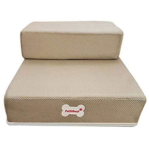 Levoberg - Escalera para perro o gato, plegable, superficie extraíble, malla transpirable,...