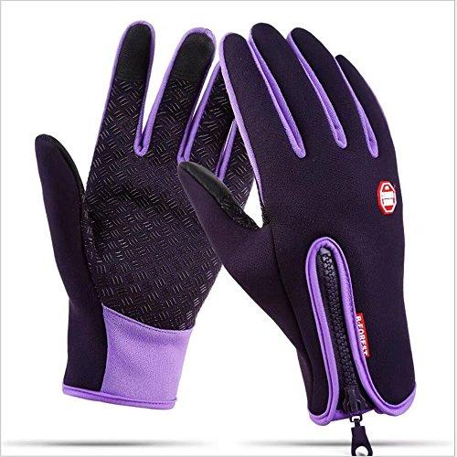 GUDENG Herren und Damen Winter Wasserski Winddicht und Wasserdicht Touchscreen Handschuhe