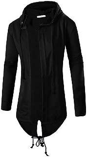 Mogogo Mens Cardigan Hoode Autumn Classic-Fit Simple Hooded Sweatshirt