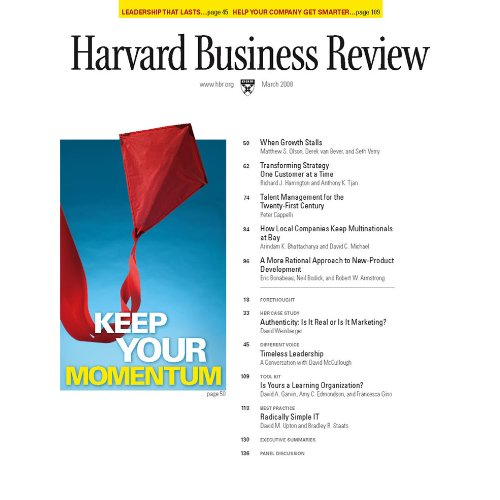Harvard Business Review, March 2008 copertina