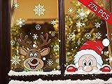 Pegatina Copo de Nieve, 275pcs Pegatinas De Navidad...
