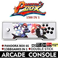 1388 Retro Pandora Box 6S Arcade consola de juegos Double Stick Cabinet TV Fighter Oshide