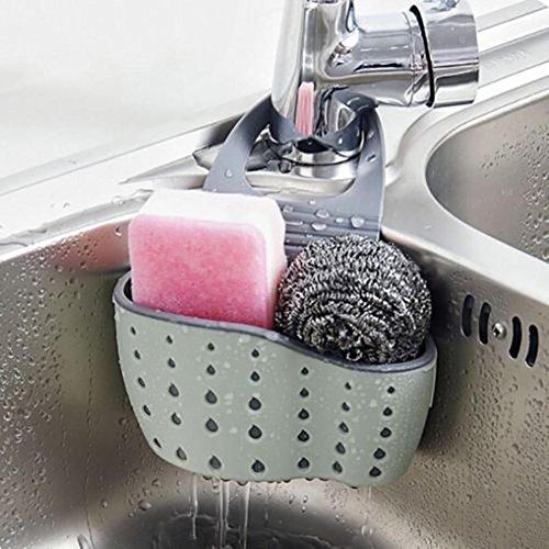 HKFV Abtropfbrett 24,5 * 14,5 * 5,7 cm Waschbecken Regal Seifenschwamm Ablaufständer Badezimmerhalter Küche Lagerung Saugnapf Klar Küche Deckel Sichere Vent Regale Lagerung Küchenspüle Lagerregal (C)