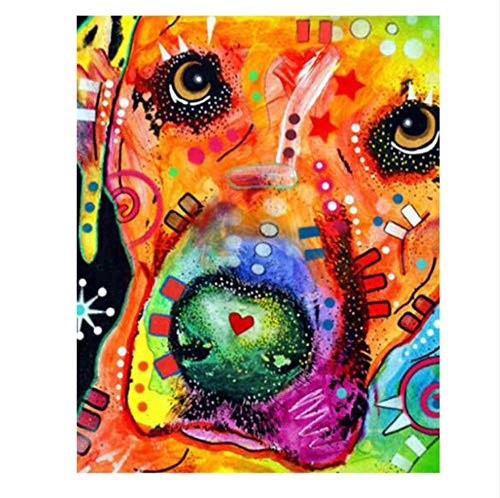 Jigsaw Puzzle 1000 Pieces Adult Puzzle Wooden Puzzle Classic 3D Puzzle Abstract Dog Animal DIY Home Decor,75X50Cm