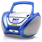 Lauson Boombox with Cd Player Mp3 | Portable Radio CD-Player Stereo with USB | USB & MP3 Player | Headphone Jack (3.5mm) CP546 (Blue)