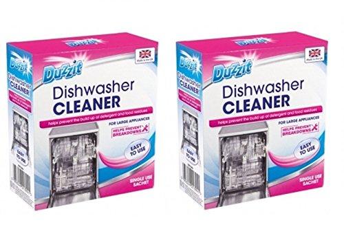 2 x Duzzit Vaatwasser Cleaner Freshener Poeder Sachet 75g helpt voorkomen opbouw